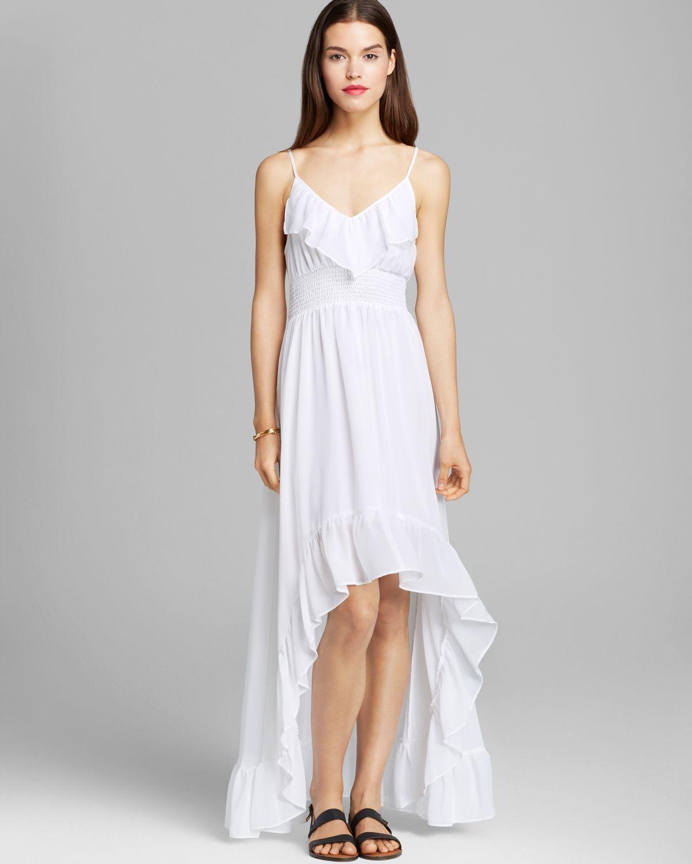Ruffled top maxi dresses