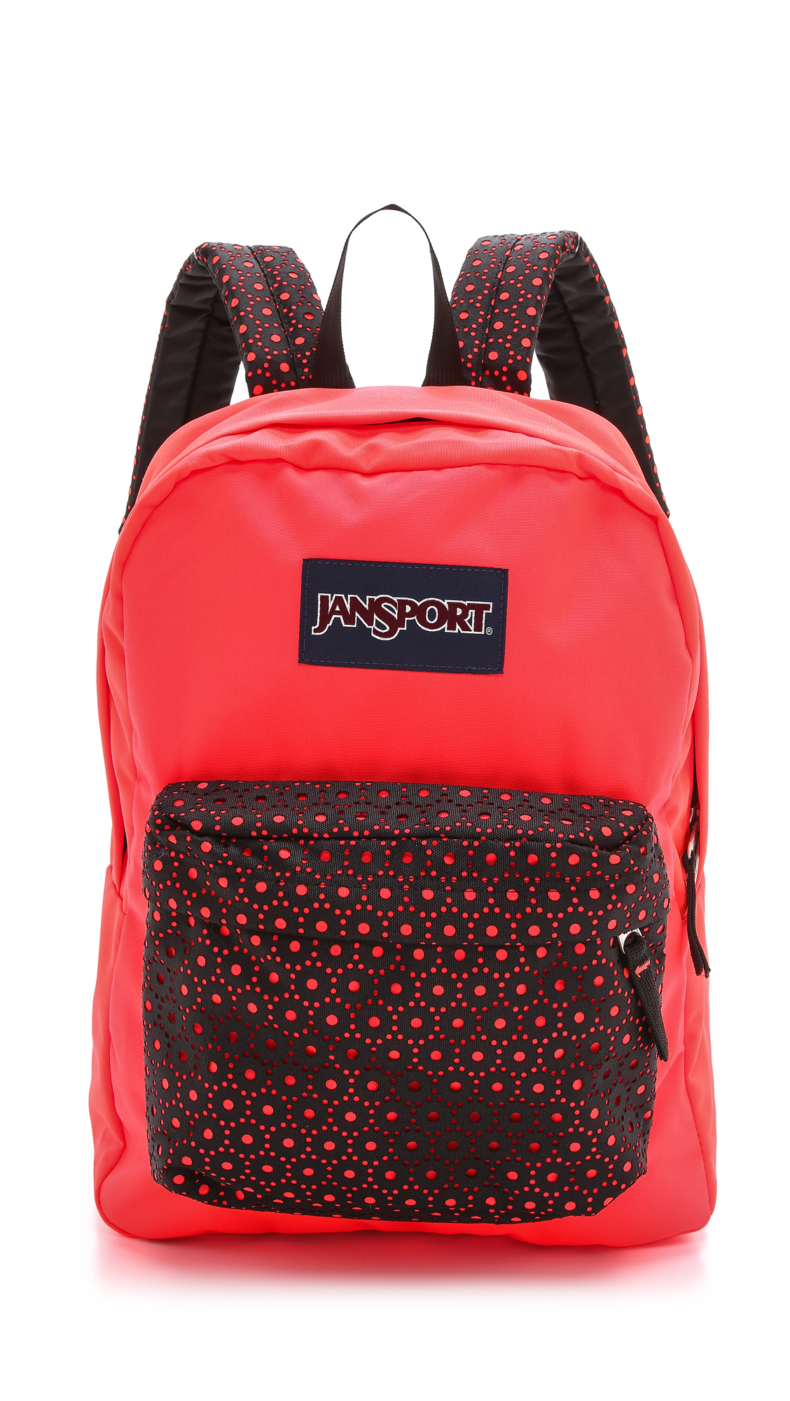 Lyst - Jansport High Stakes Backpack - Black Laser Lace in Red