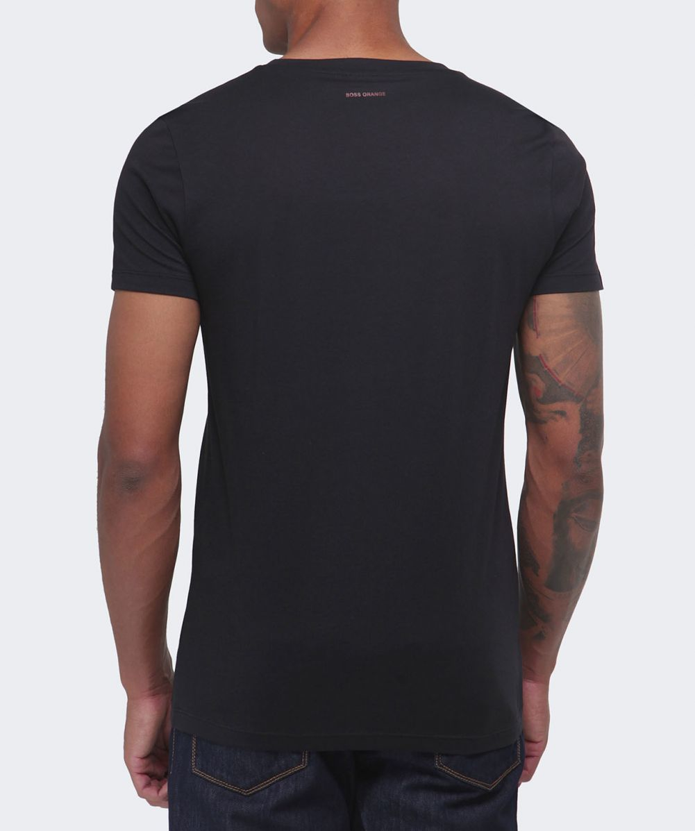 boss orange taiwo graphic logo t shirt in black for men lyst. Black Bedroom Furniture Sets. Home Design Ideas