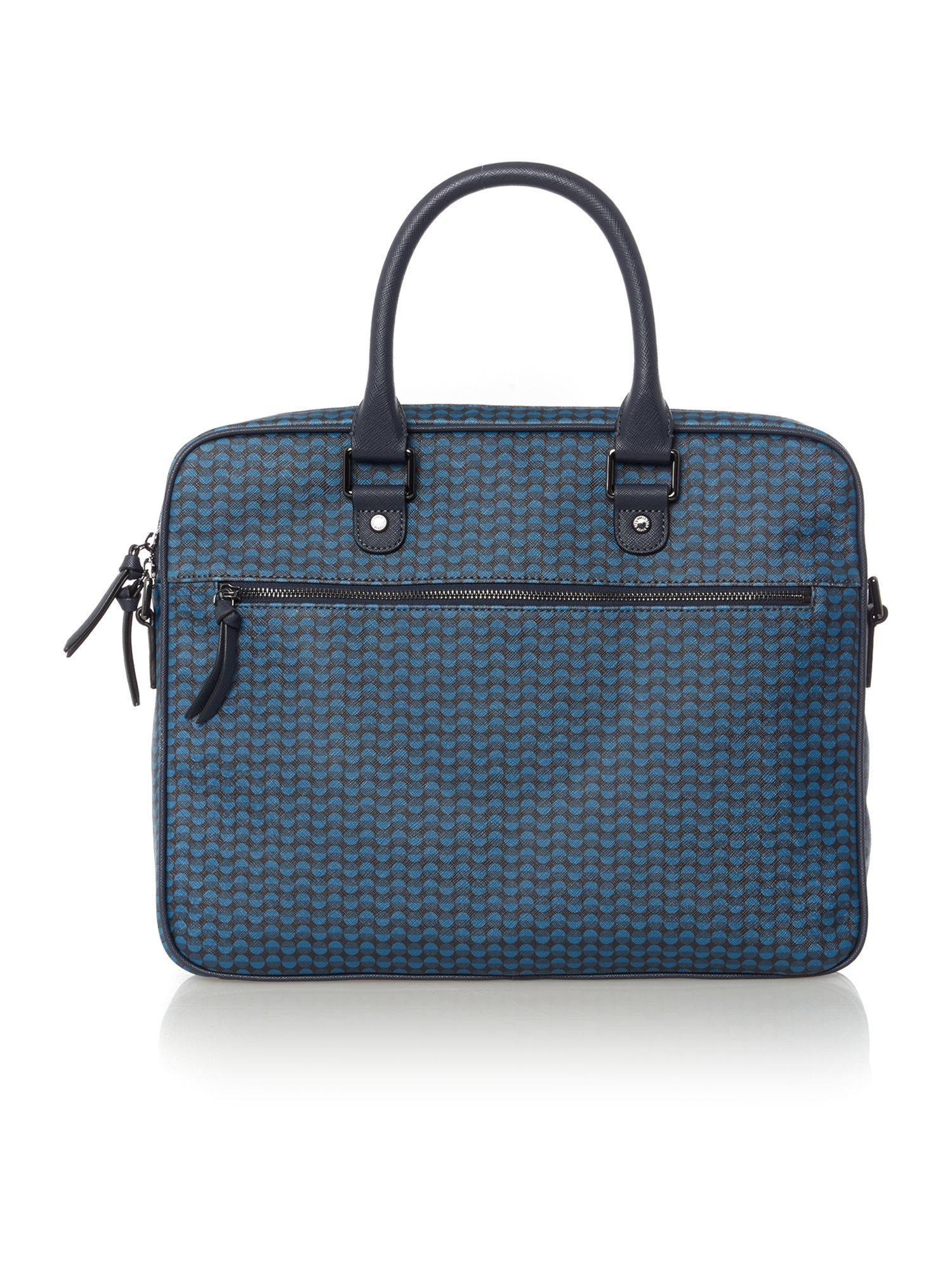 48b957aa7a6 Ted baker Printed Document Bag in Blue for Men | Lyst