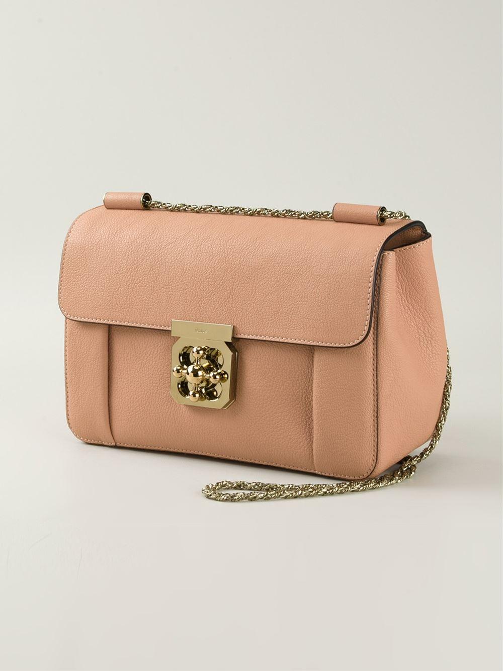 Chlo¨¦ Elsie Goatskin Cros-Body Bag in Pink (pink \u0026amp; purple) | Lyst
