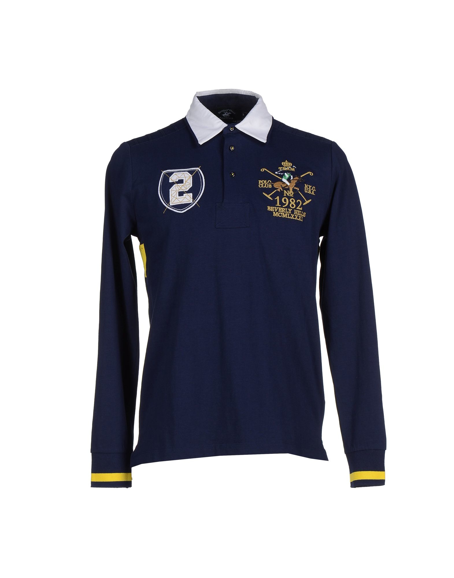 Beverly hills polo club Polo Shirt in Blue for Men | Lyst