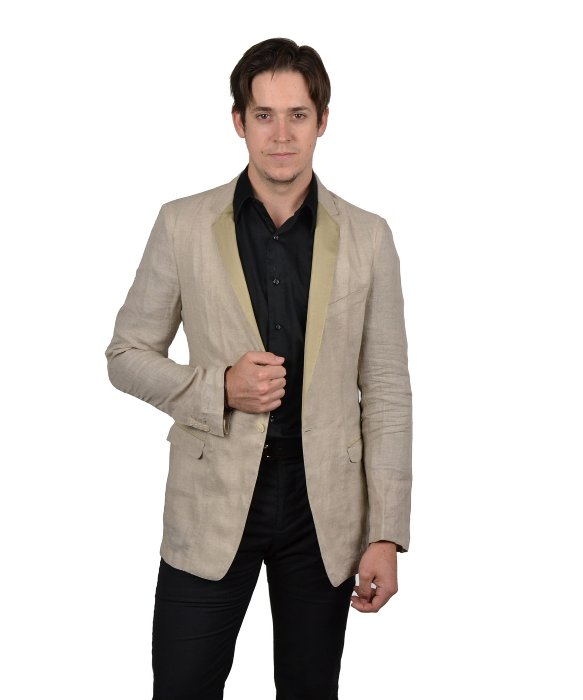 Dolce & gabbana Men's Linen Sports Jacket in Natural for Men | Lyst