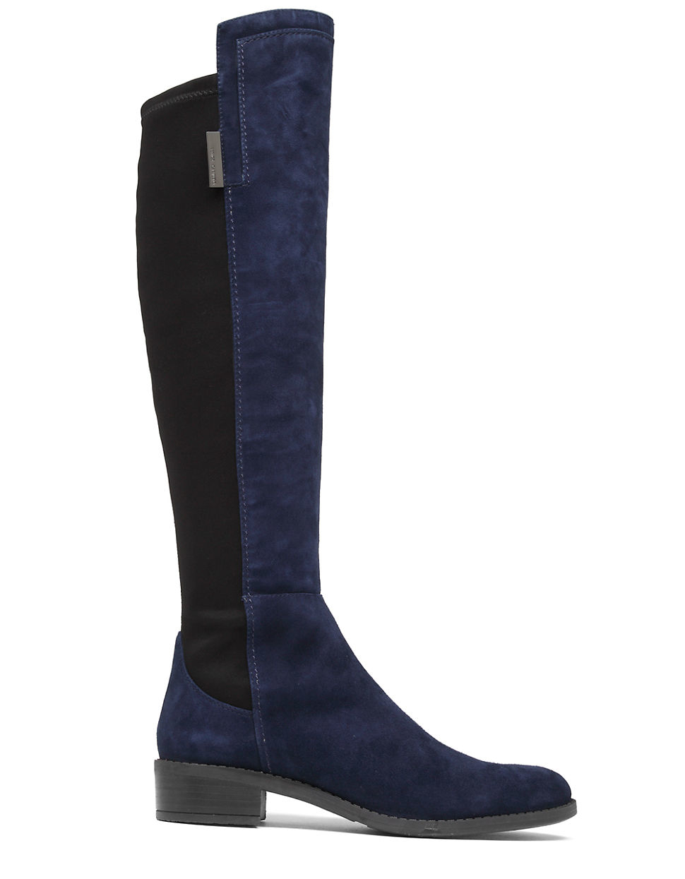 vince camuto jamirah suede the knee boots in blue lyst