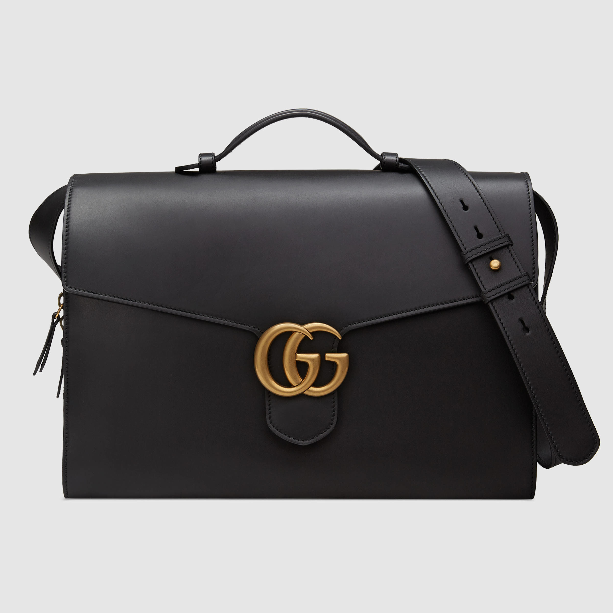6014364e4693 Gucci GG Marmont Leather Briefcase in Black for Men - Lyst