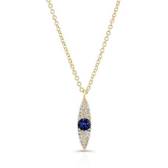 sisteron 14kt yellow gold and sapphire evil