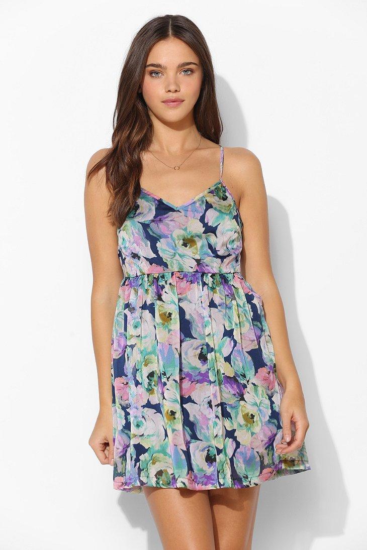 Ladakh Elise Summer Floral Tank Dress in Blue | Lyst