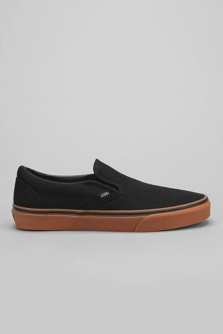 vans slip on black and gum