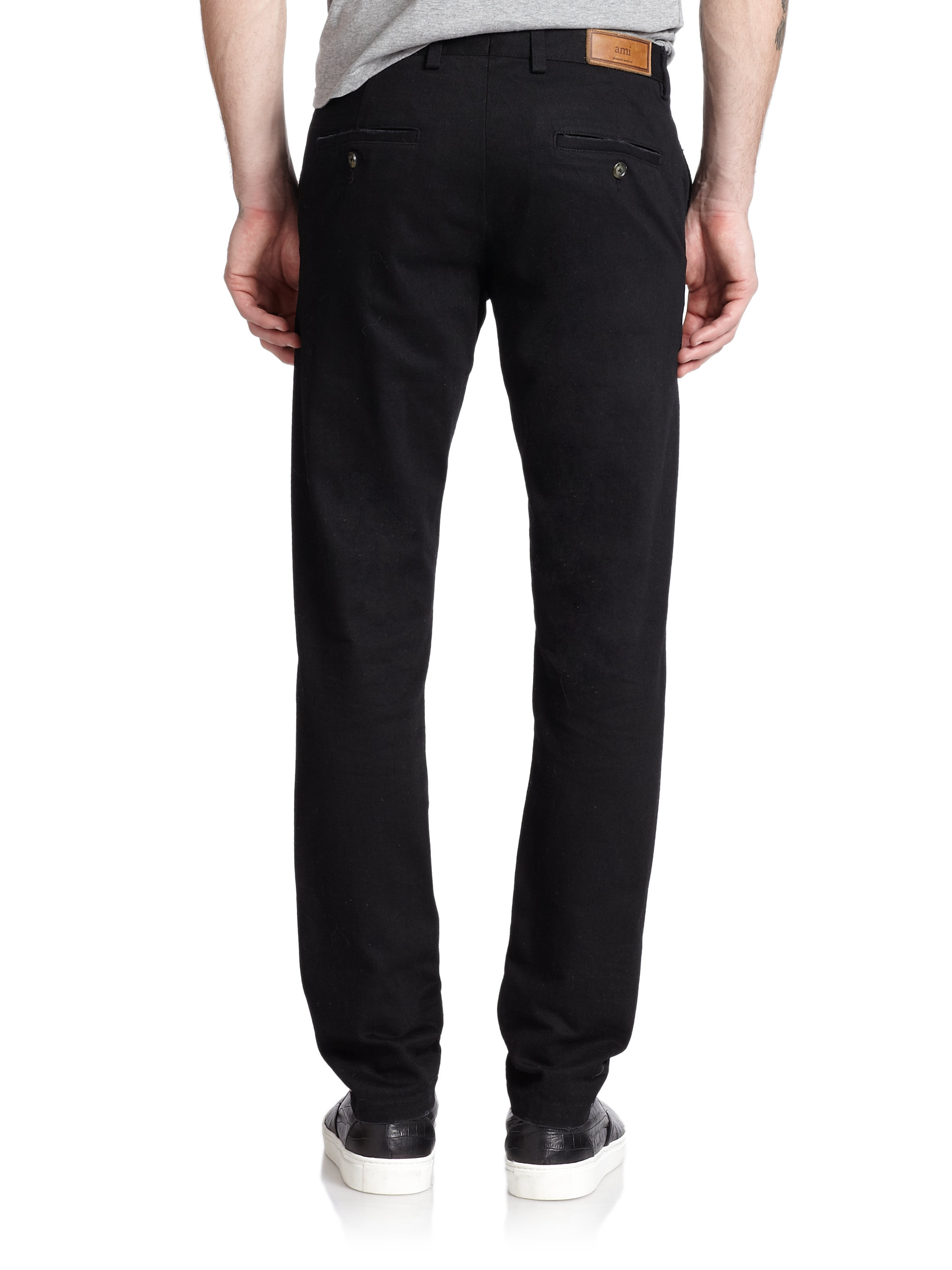 Ami Denim Chino Pants in Black for Men | Lyst