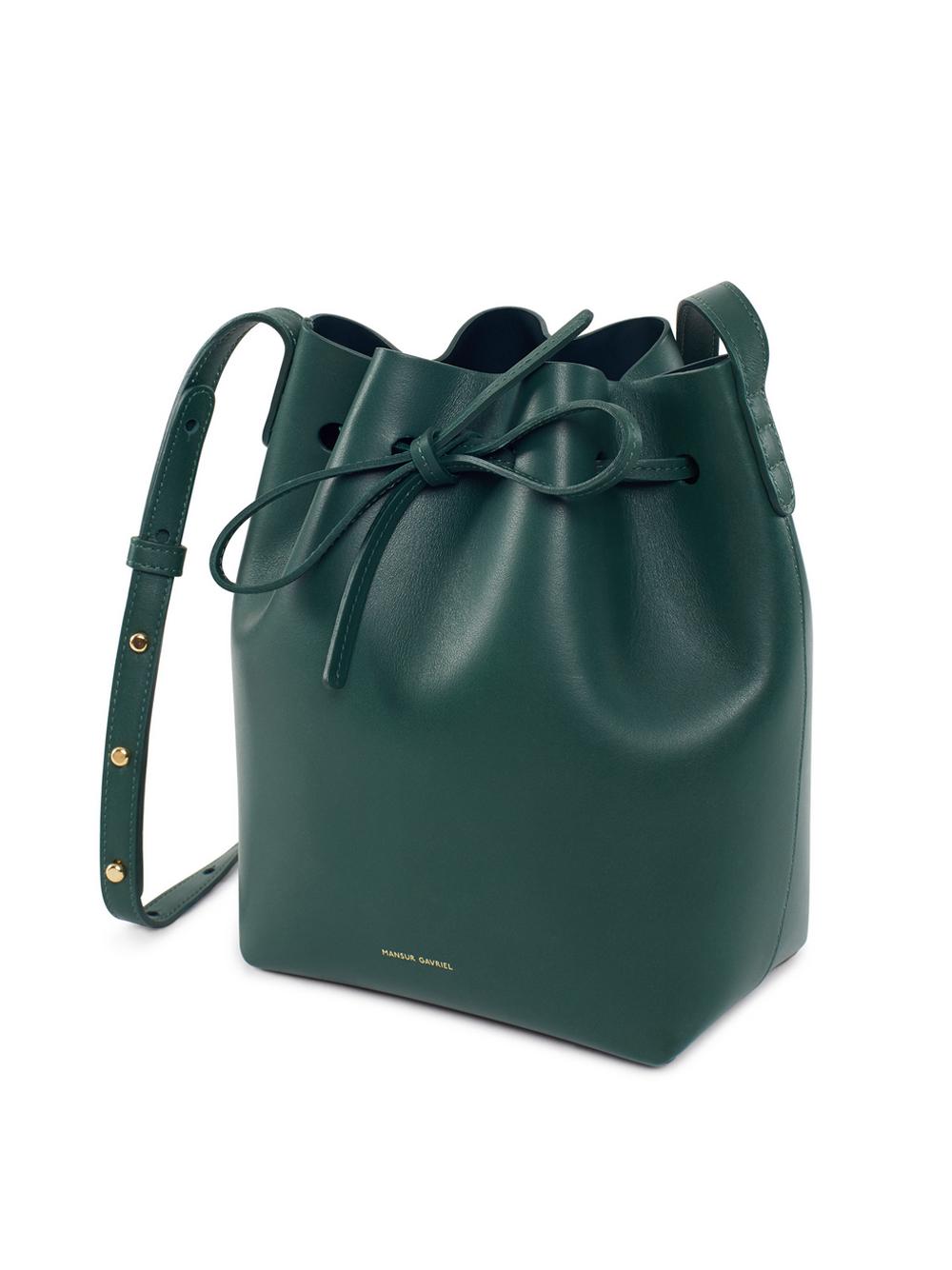 Lyst Mansur Gavriel Mini Calf Bucket Bag In Black