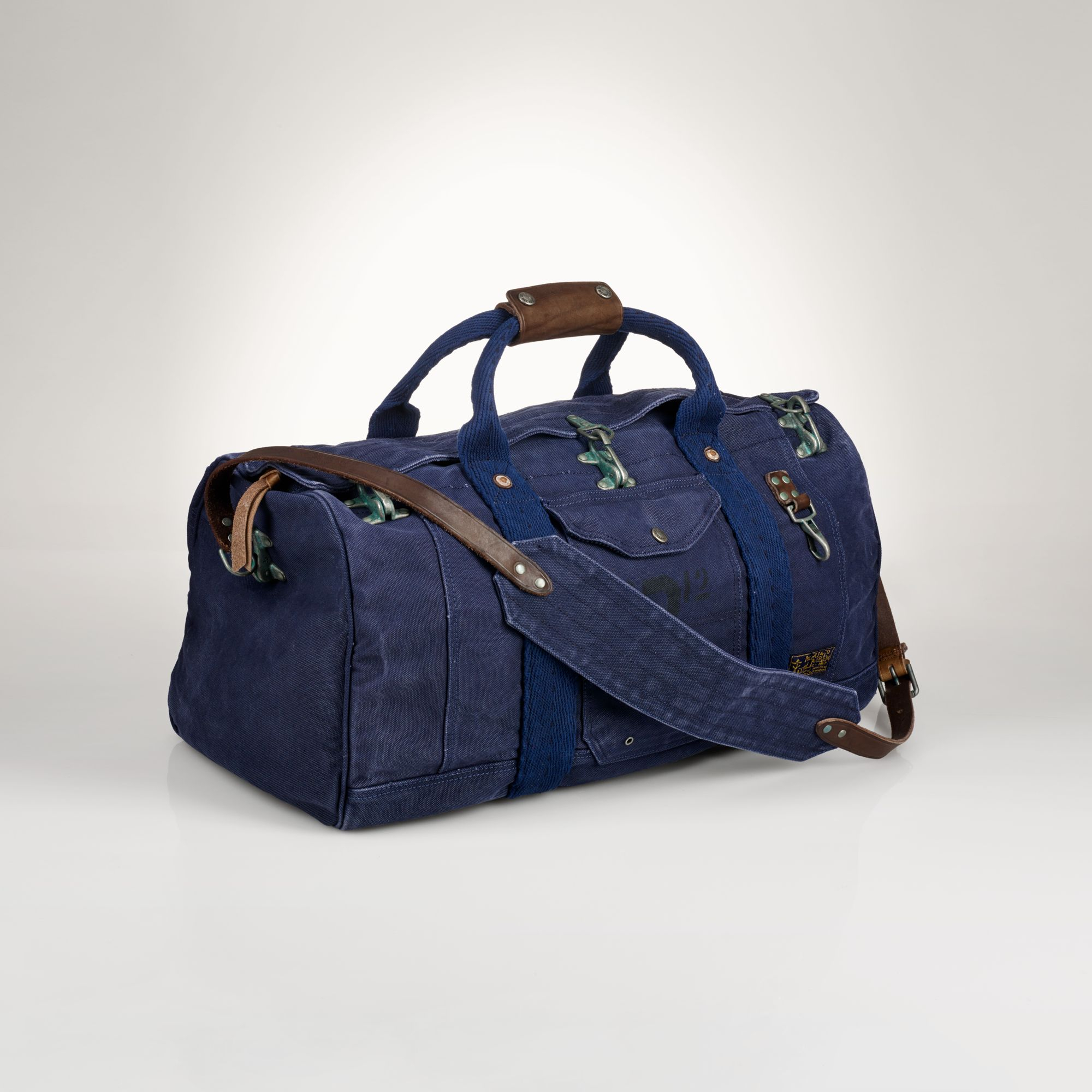 Polo Ralph Lauren Firemans Canvas Duffel Bag In Blue For