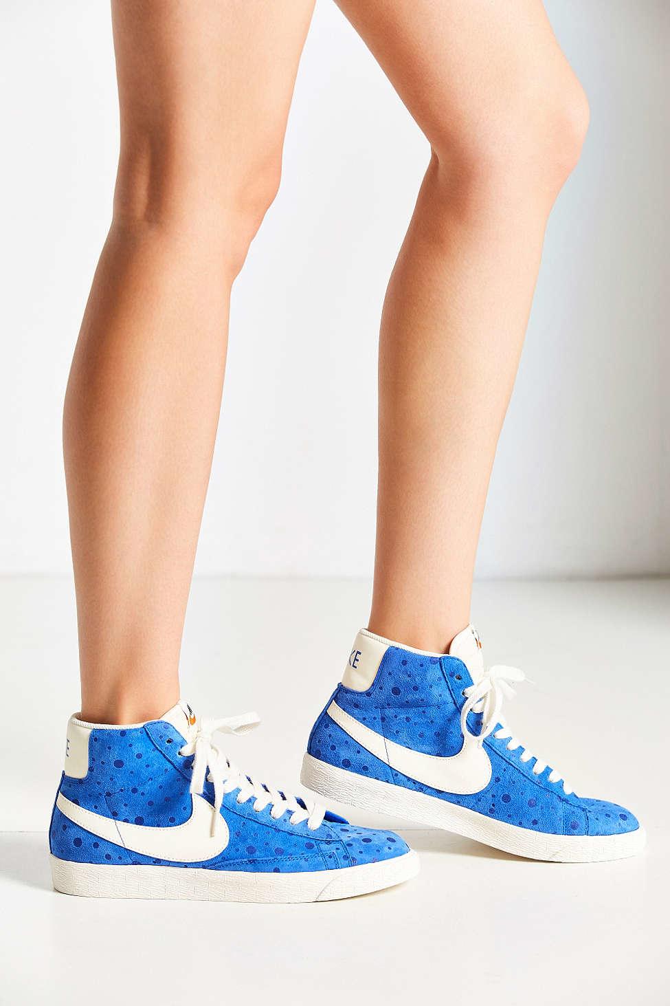 Lyst - Nike Womens Blazer Mid Suede Vintage Sneaker in Blue ... cdb5795fd