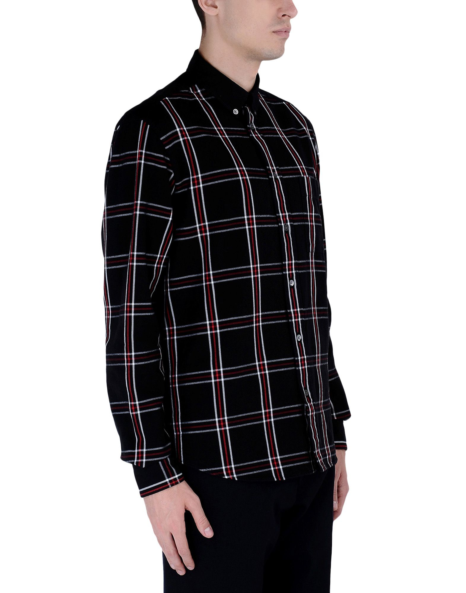 mcq alexander mcqueen long sleeve shirt in black for men
