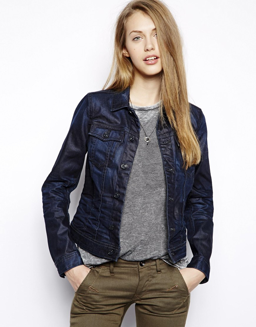 G-star raw Denim Jacket in Blue | Lyst