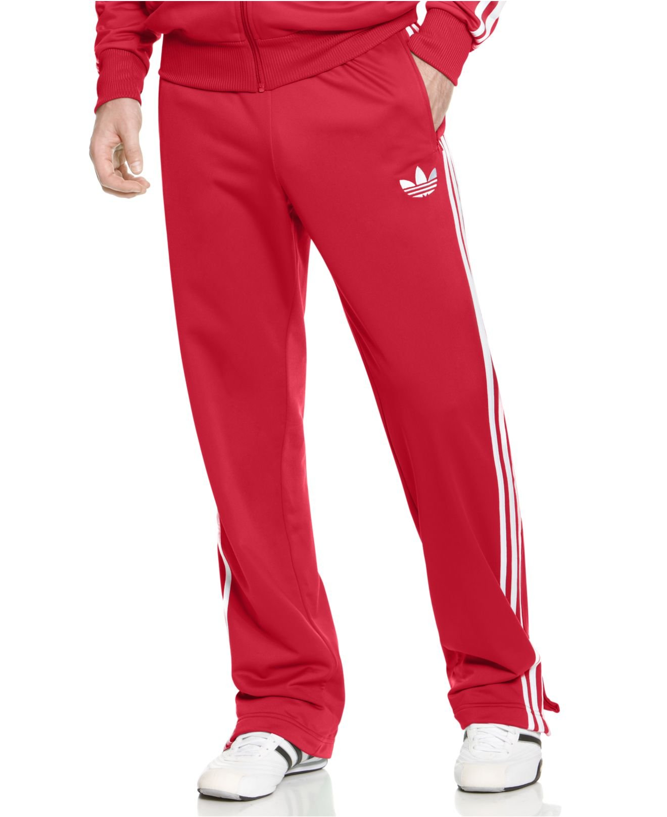 ad6ecb6c1 adidas Adi Firebird Track Pants in Red for Men - Lyst
