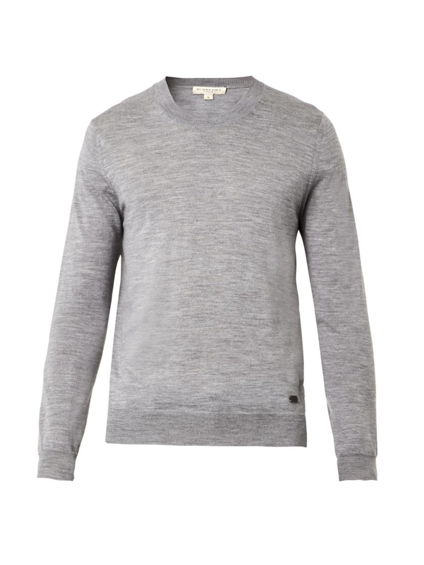 Burberry Lydden Wool-knit Sweater in Gray for Men | Lyst