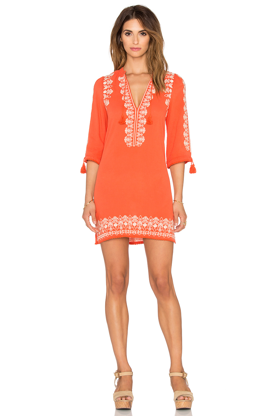 Lyst - Spell   The Gypsy Collective Santorini Embroidered Tunic ...