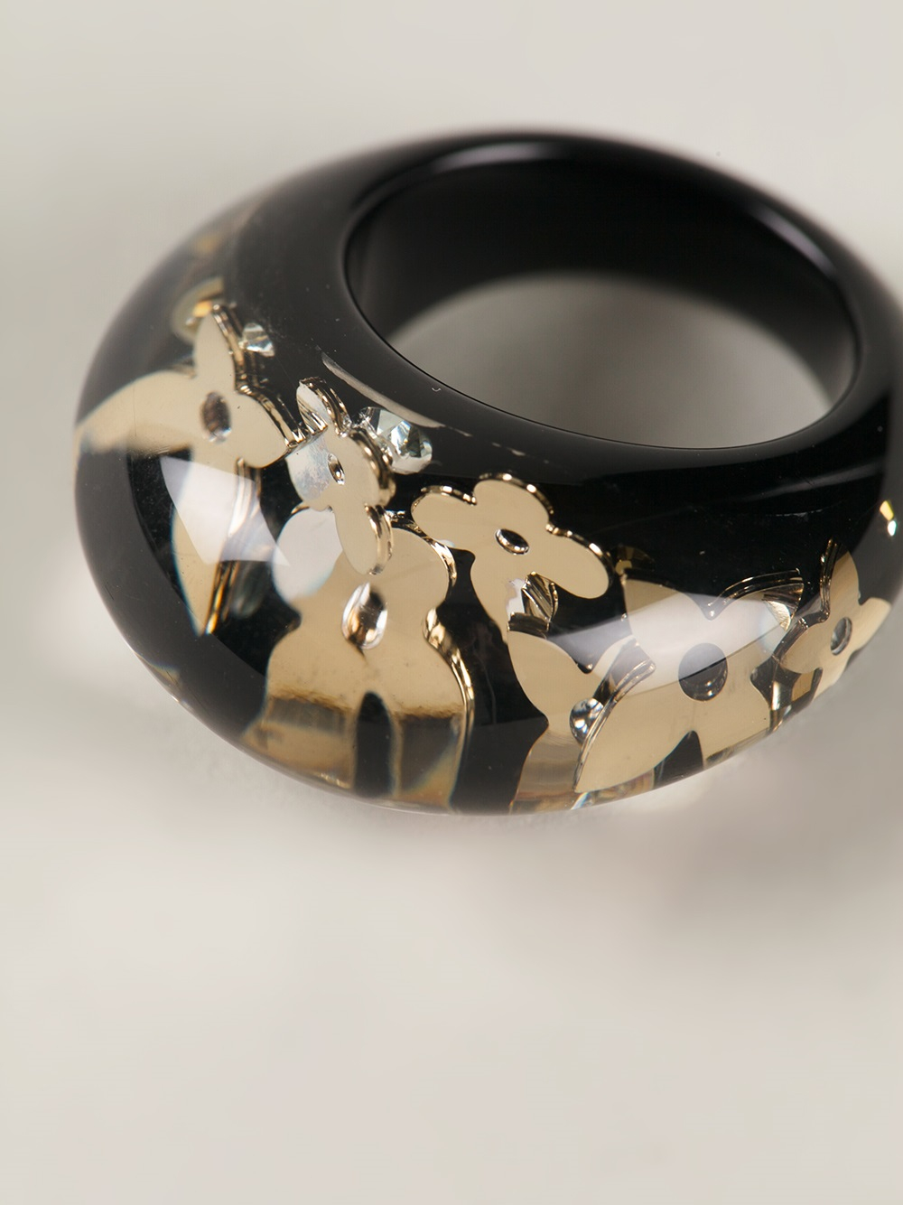 Lyst Louis Vuitton Resin Ring In Black