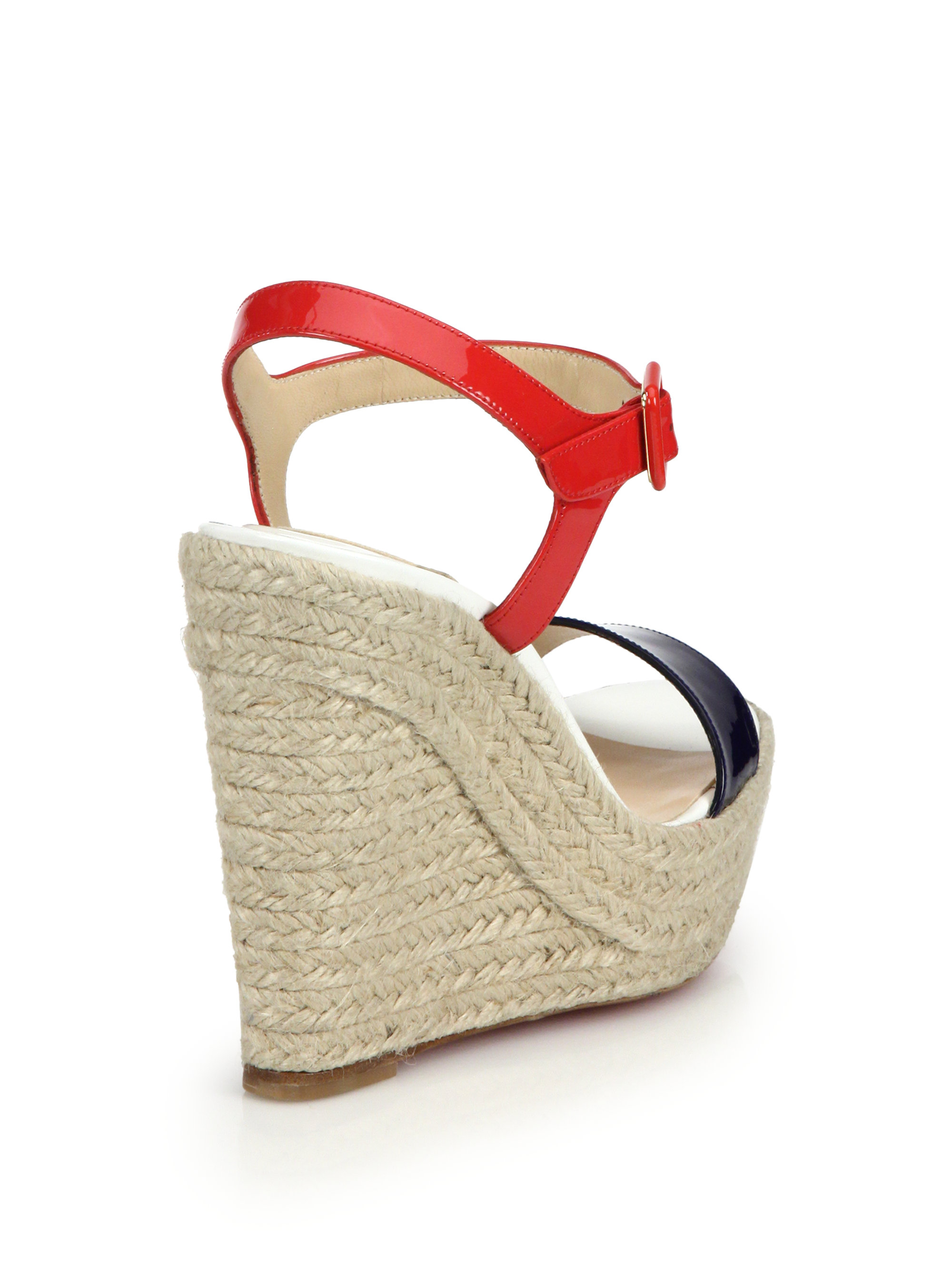 christian louboutin shoes prices - Christian louboutin Spachica Patent Leather Espadrille Wedge ...