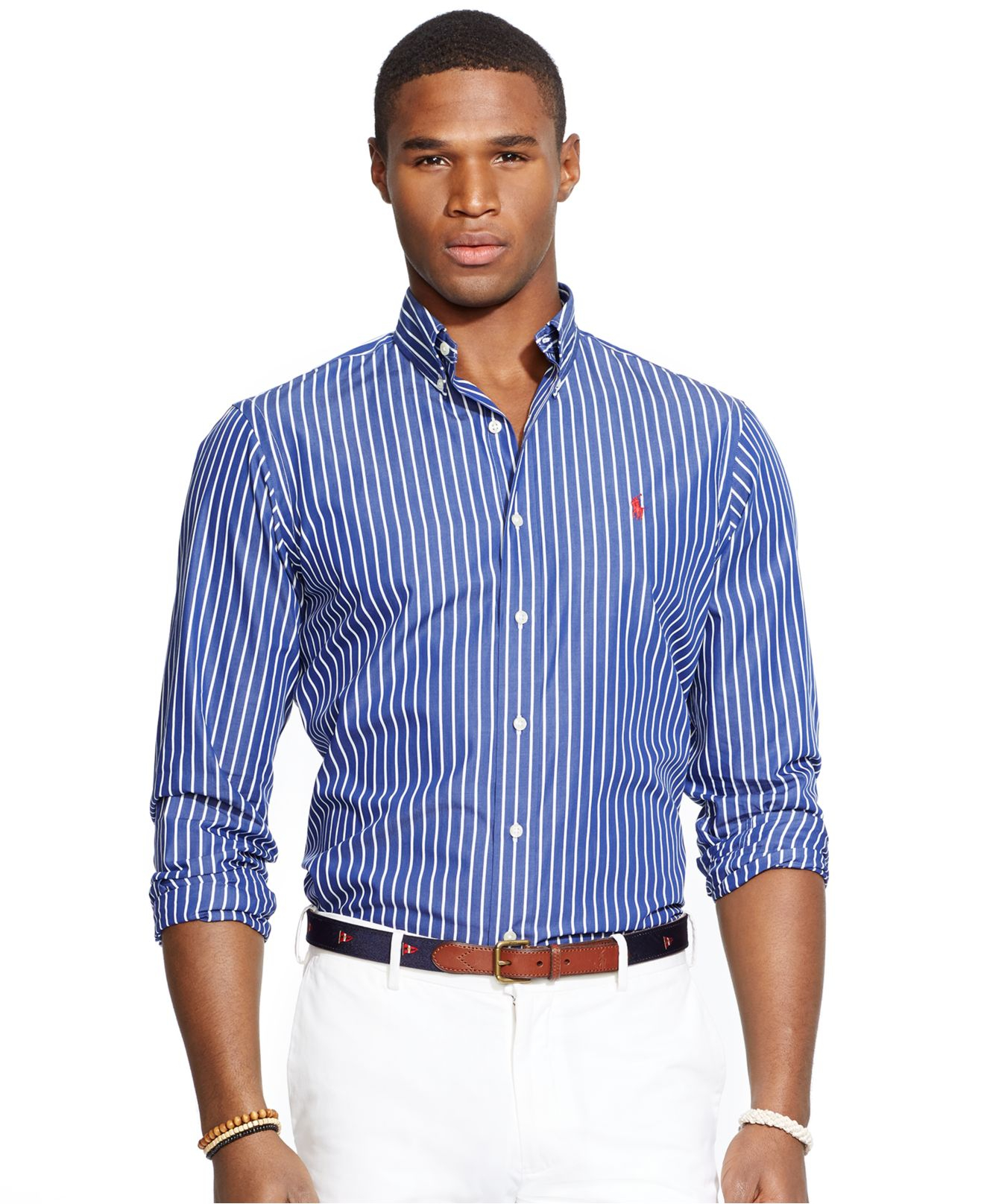 Lyst polo ralph lauren men 39 s men 39 s long sleeve striped Man in polo shirt