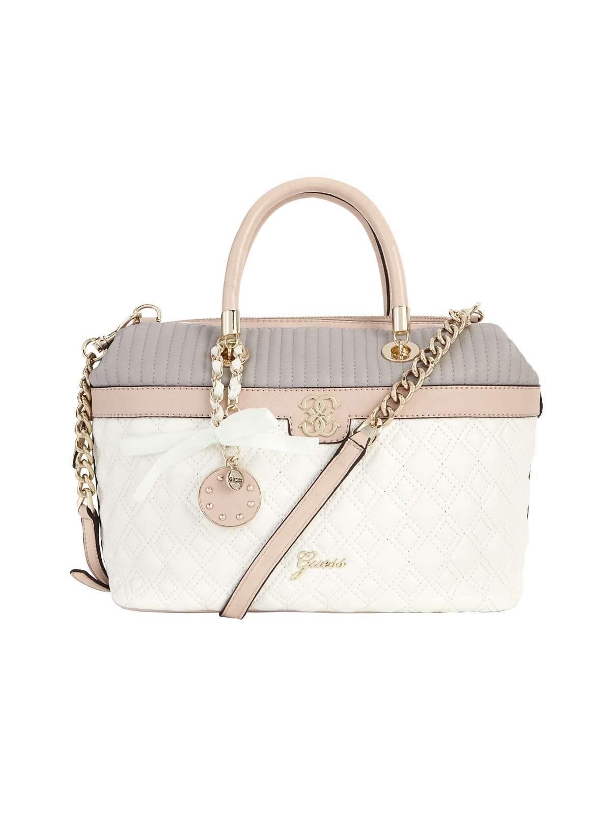 Guess Merci Box Tote Bag in Multicolor (white_multi) | Lyst