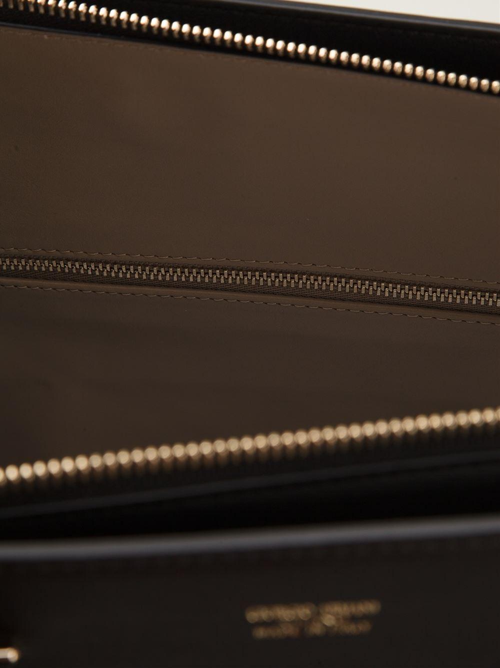 Giorgio Armani Medium  Charniere Doree  Tote in Black - Lyst 9a9641f60f
