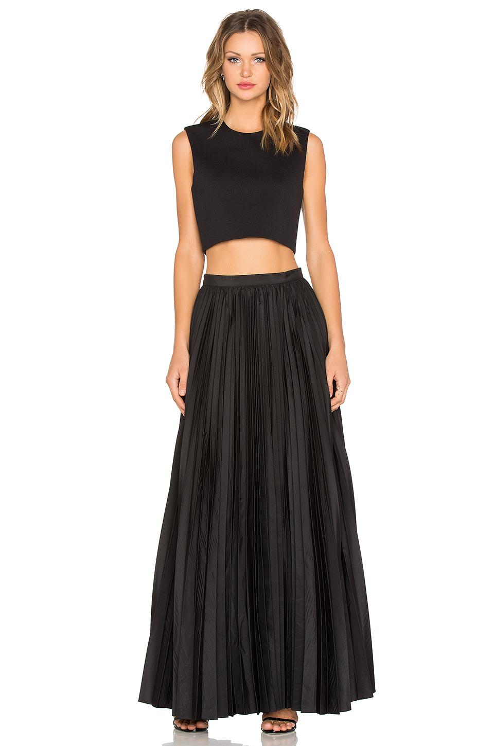d277492596 Blaque Label Pleated Maxi Skirt in Black - Lyst
