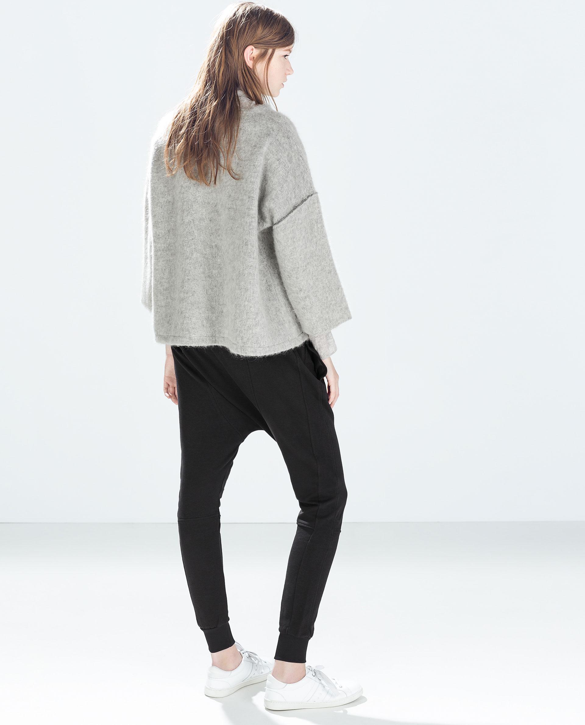 Elegant Zara Baggy Carrot Jeans In Gray  Lyst