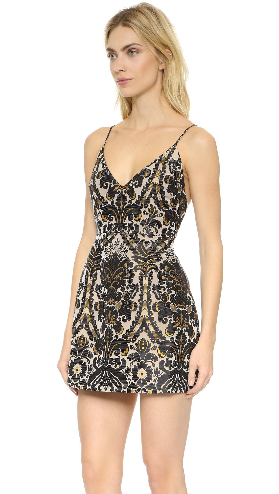 Lyst Free People Queen Of Hearts Mini Dress In Black