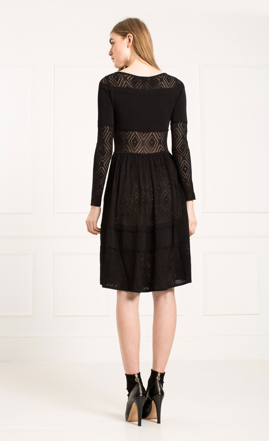 Temperley London Fina Lace Fit And Flare Dress In Black Lyst