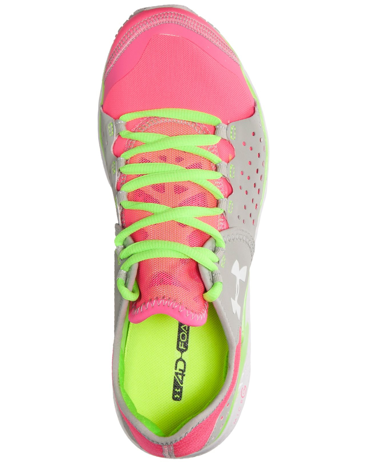 83cb8cf574f6 Lyst - Under Armour Women s Micro G Mantis Running Sneakers From Finish  Line in Pink