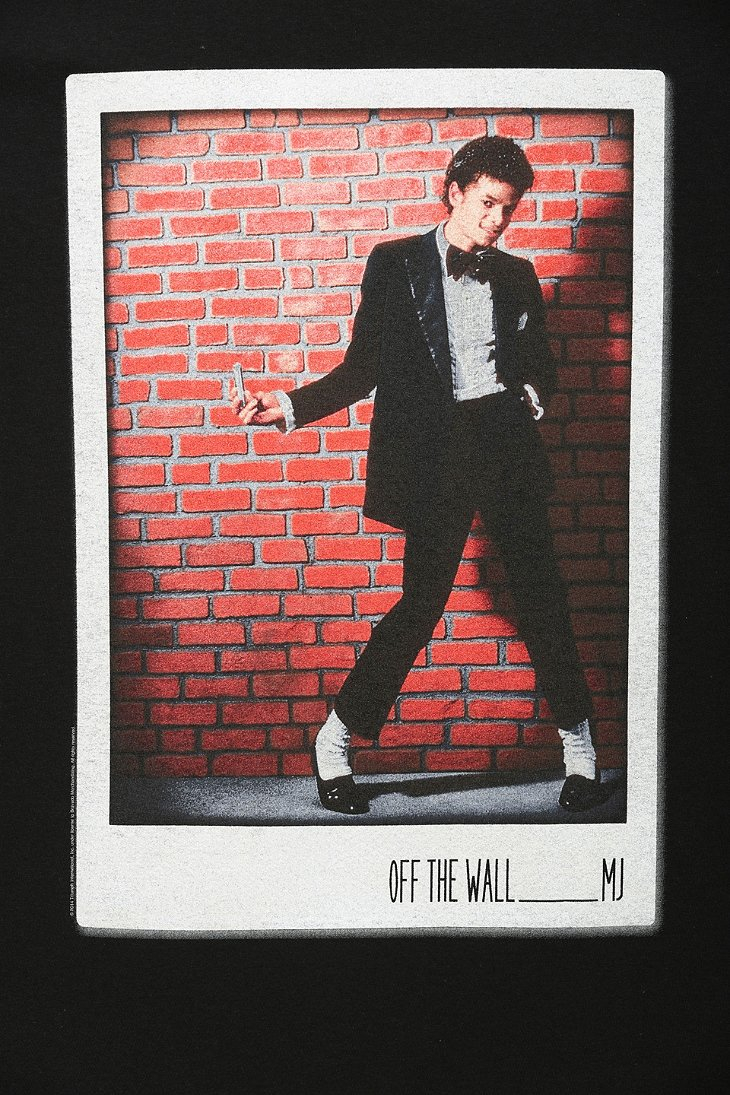 lyst urban outfitters michael jackson off the wall tee in black
