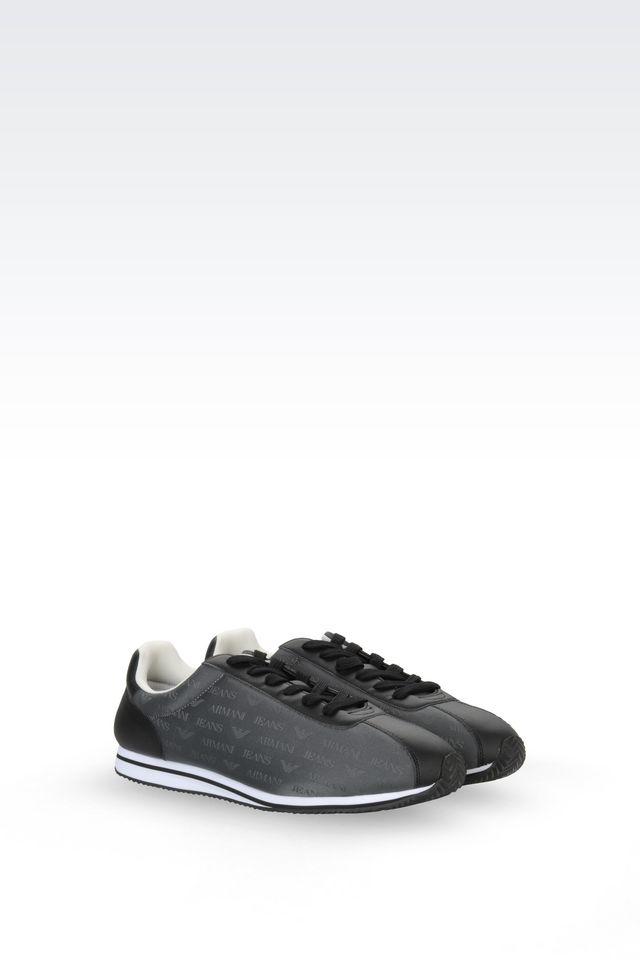 armani jeans sneaker for men lyst. Black Bedroom Furniture Sets. Home Design Ideas