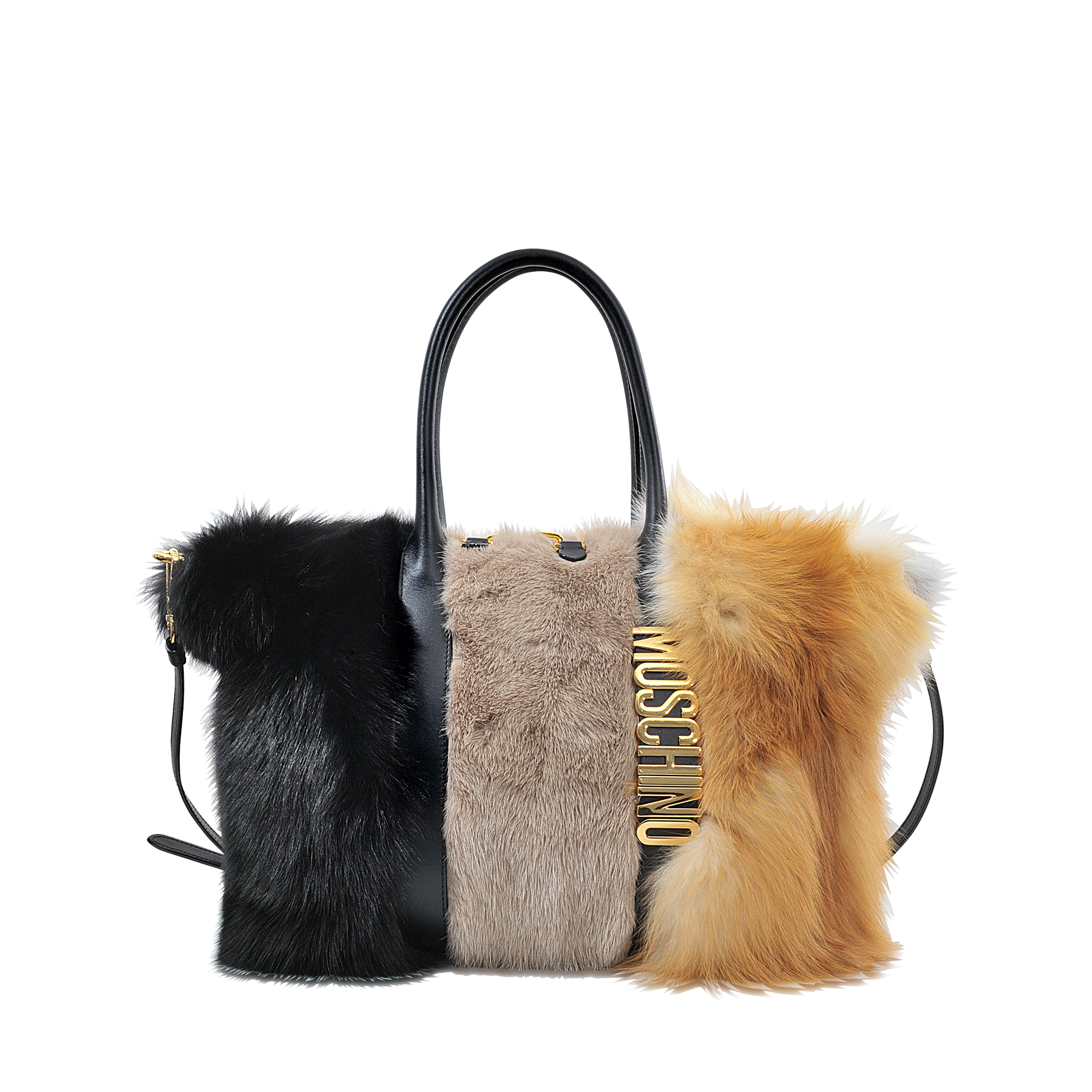 Moschino Bag In Fur In Brown Lyst