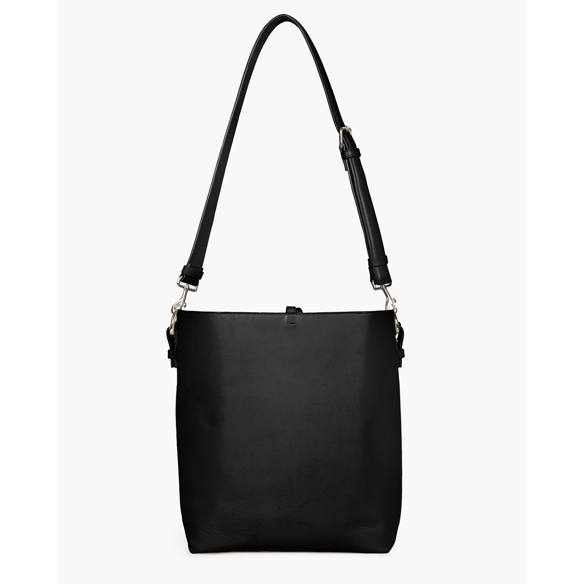 846d343eda1 Lyst - Theory Small Bucket Bag In Linden Leather in Black