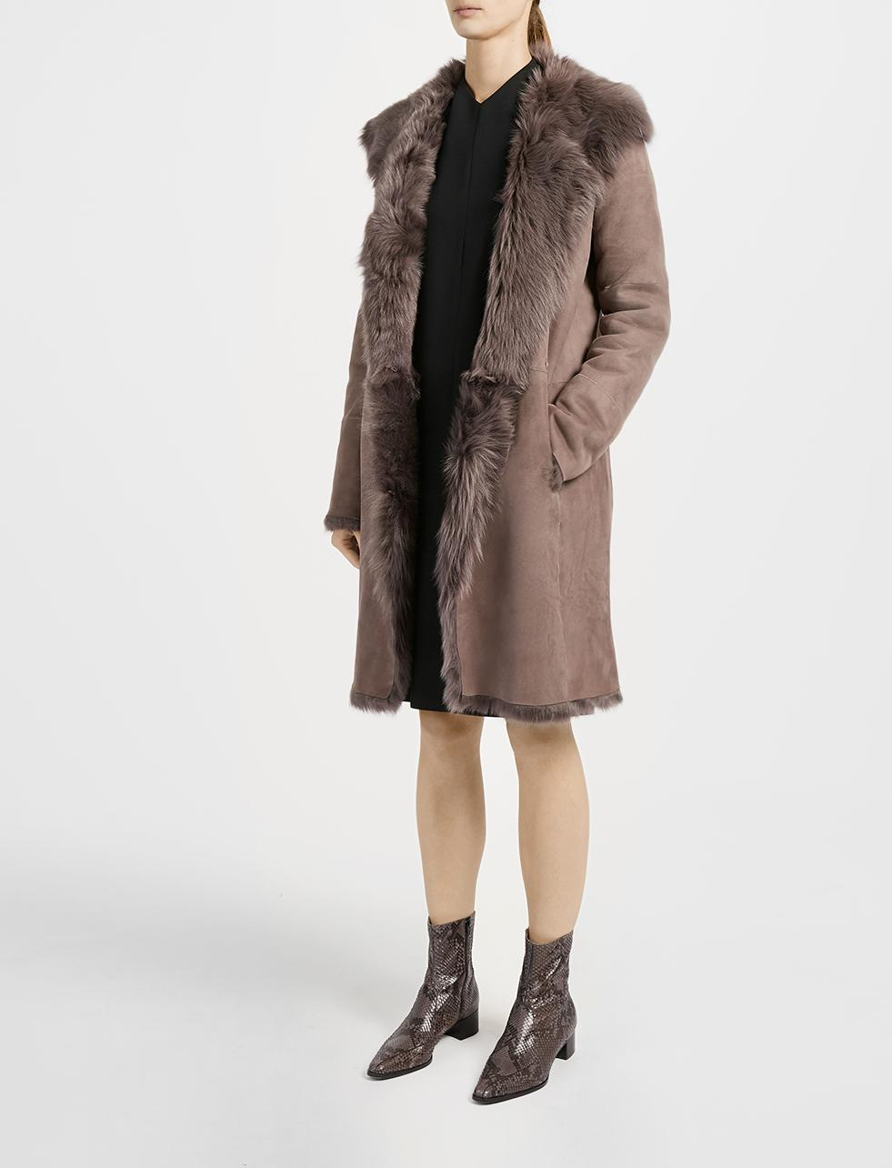 Joseph Toscana Anais Sheepskin Coat in Brown | Lyst
