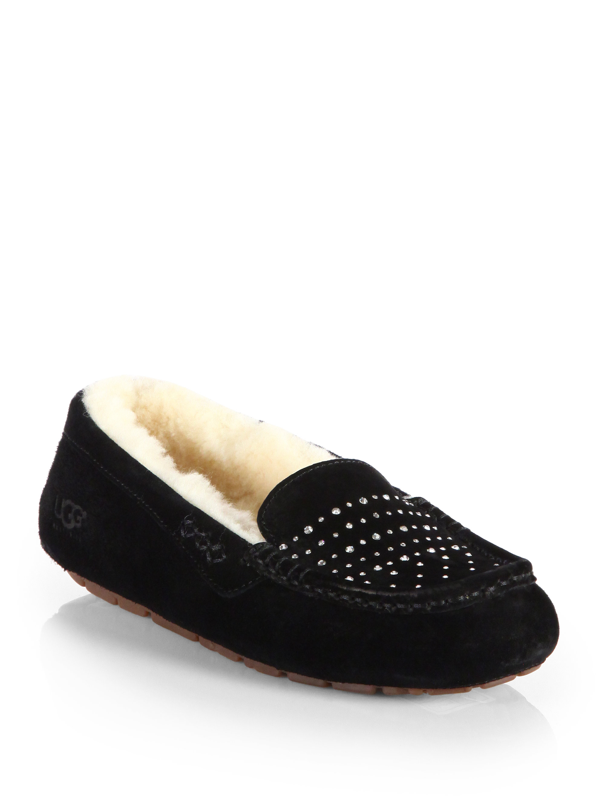 Lyst Ugg Ansley Suede Bling Slippers In Black