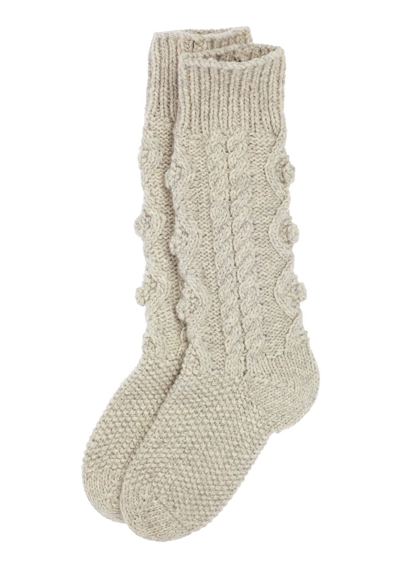 Aran Sock Knitting Pattern : Toast Aran Knit House Sock in Gray (Stone Grey) Lyst