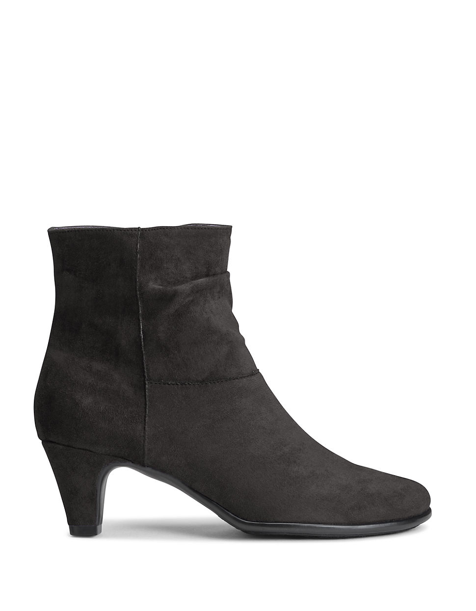 aerosoles light slouchy ankle boots in black lyst