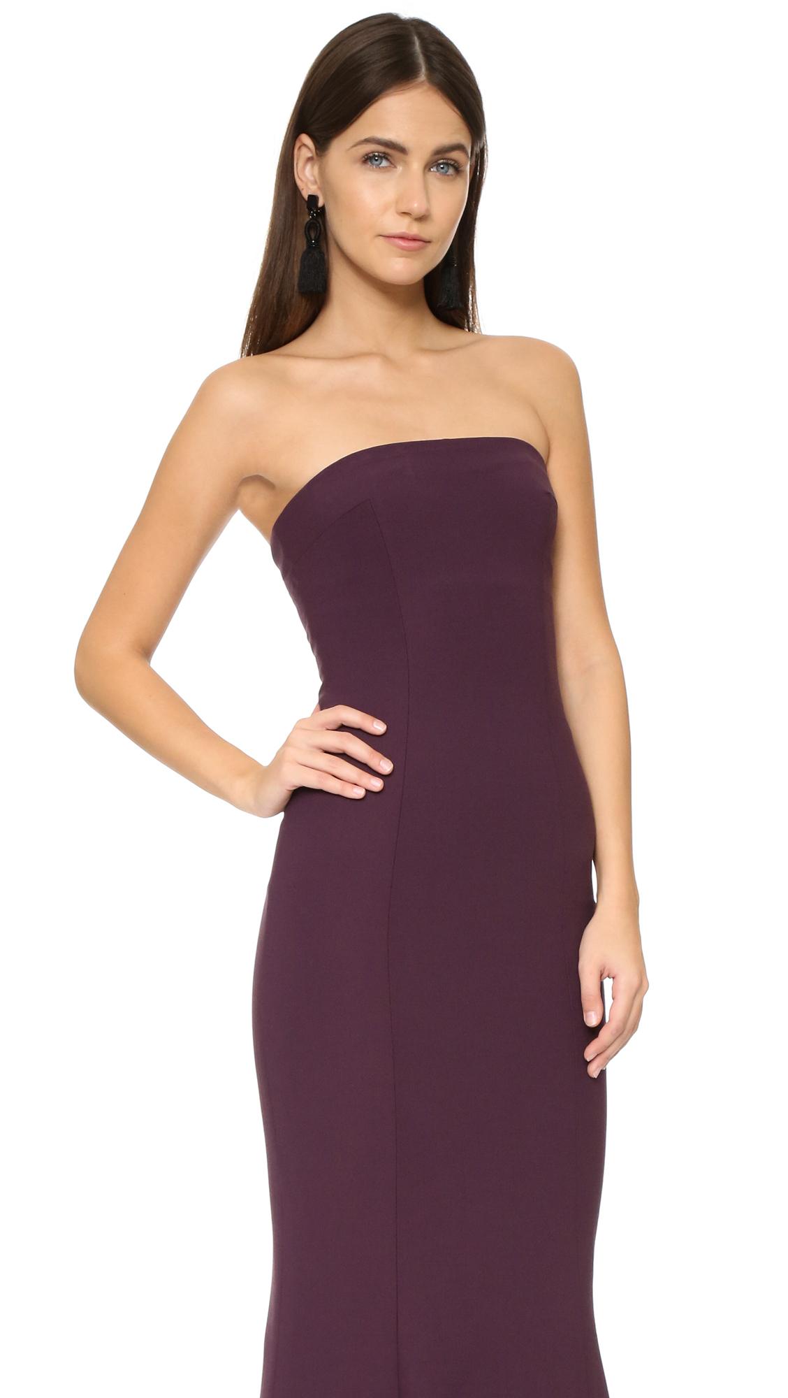 lyst elizabeth and james kendra gown in purple. Black Bedroom Furniture Sets. Home Design Ideas