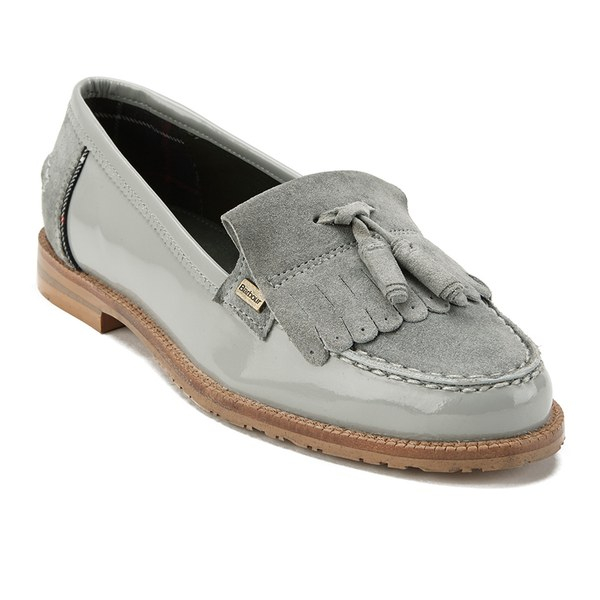 29388ded428 Barbour Women S Amber Suede Tassel Loafers in Gray - Lyst