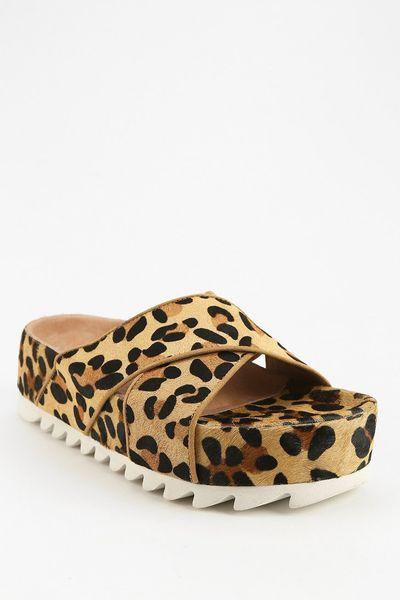 Jeffrey Campbell Menorca Leopard Print Flatformsandal In