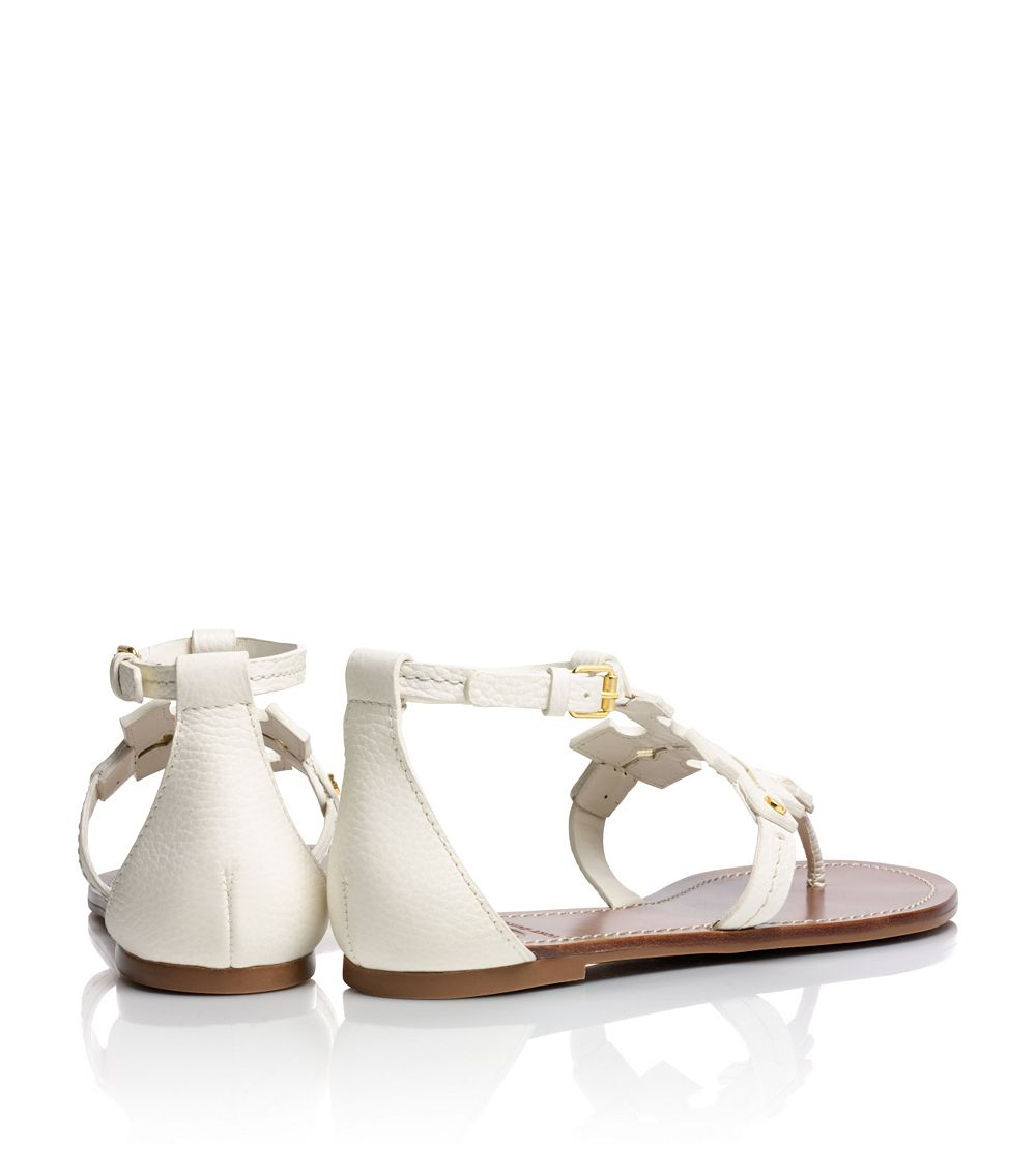 0f910db1134d Tory Burch Phoebe Flat Thong Sandal in White - Lyst
