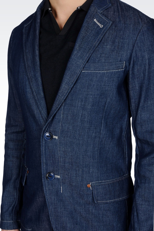 79aae254ec Armani Jeans Denim Jacket Blue
