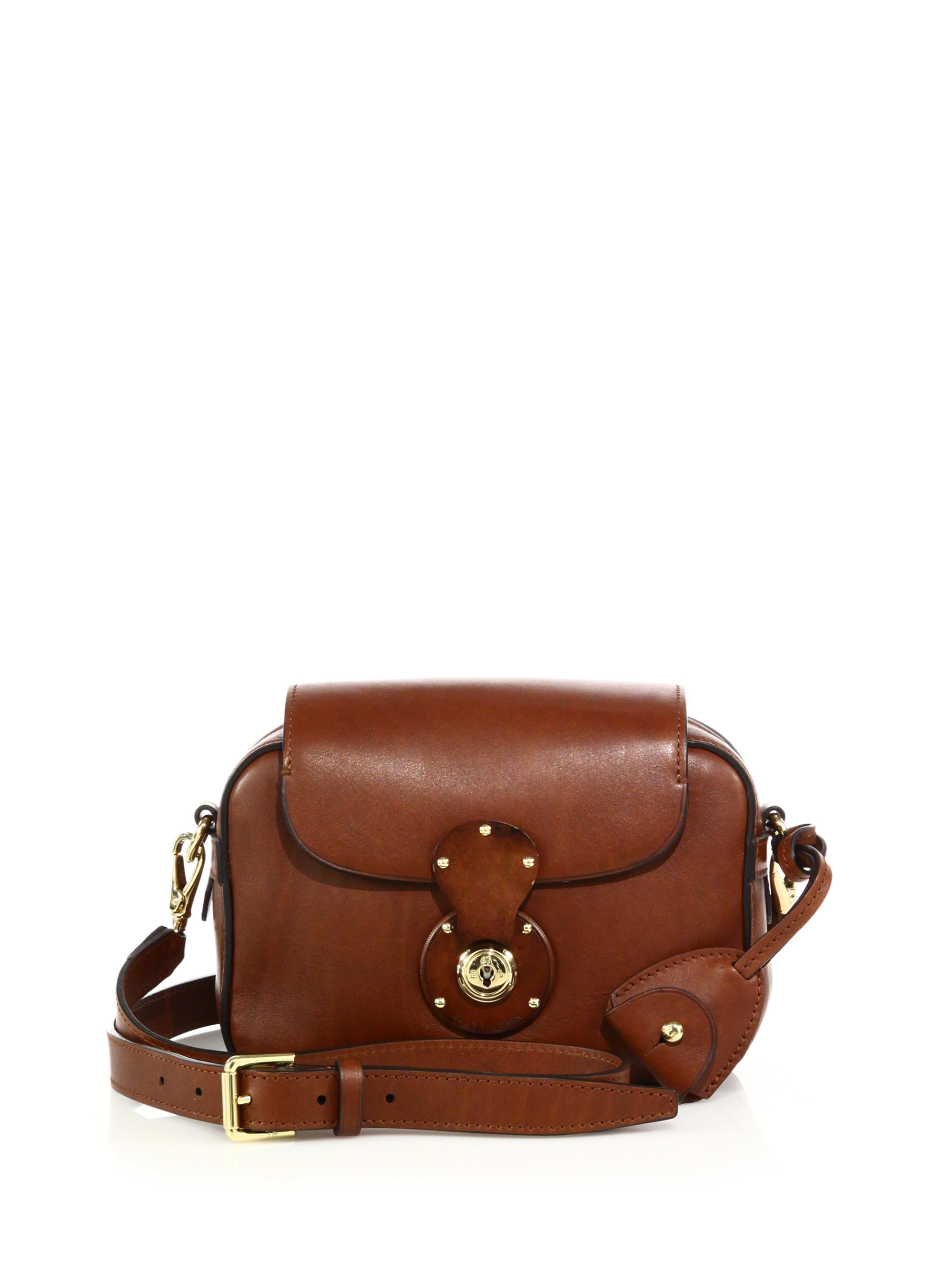 3db073564d Lyst - Ralph Lauren Ricky Small Leather Zip Crossbody Bag in Brown