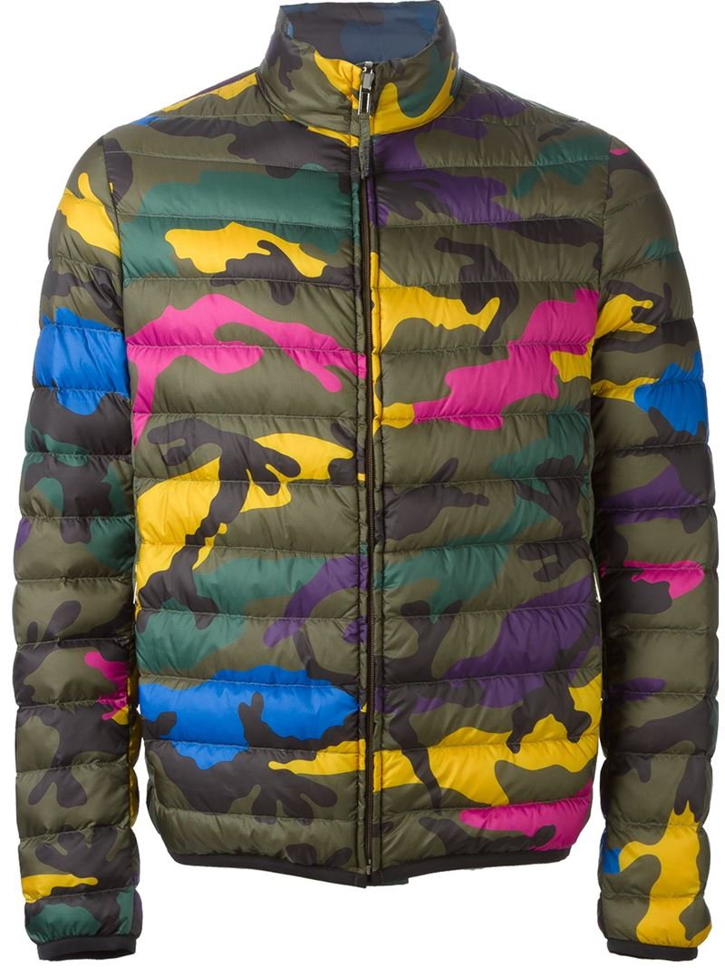 07eca10433126 Valentino Reversible Camouflage Jacket for Men - Lyst