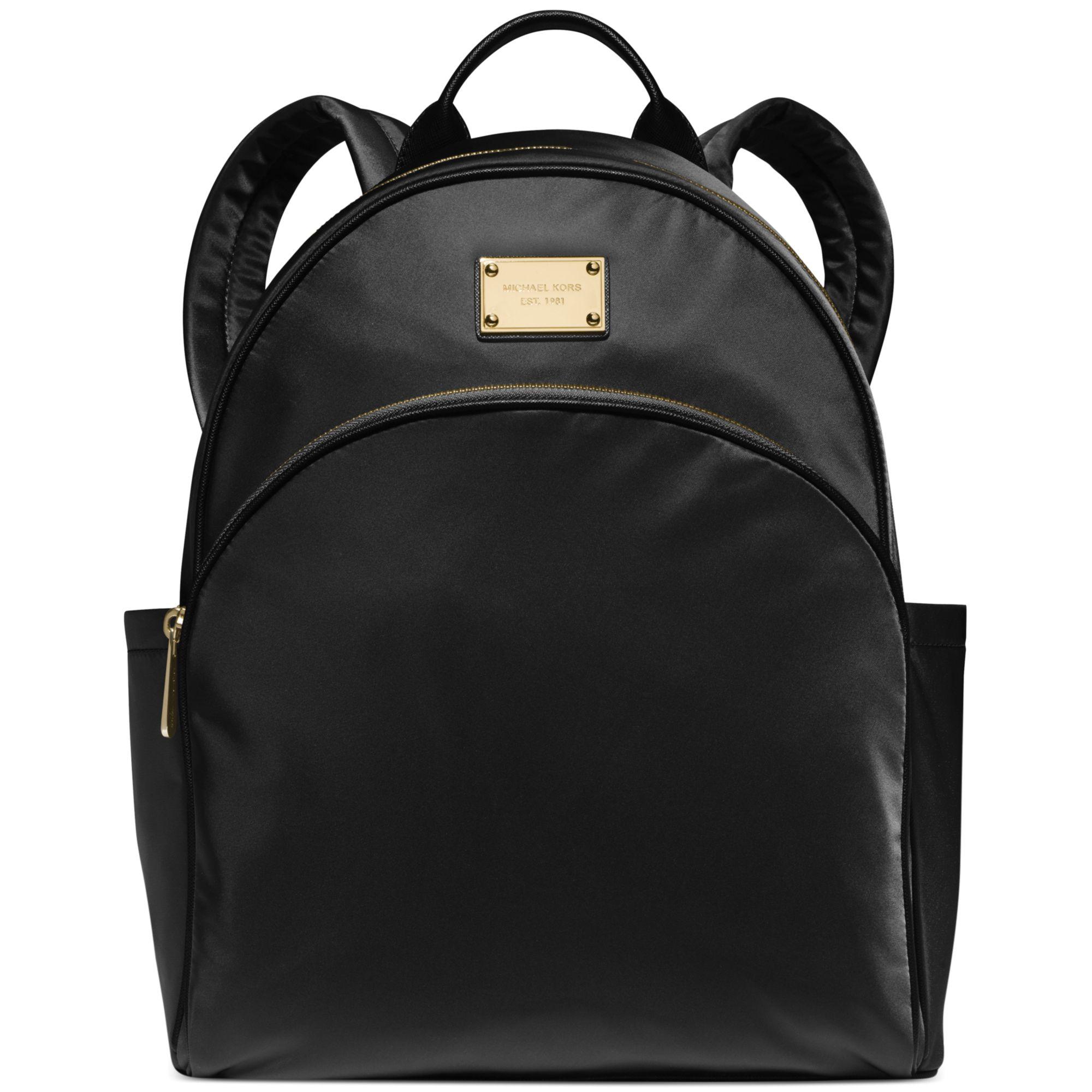f17bc8decd18 Michael Kors - Black Michael Large Nylon Backpack - A Macys Exclusive - Lyst