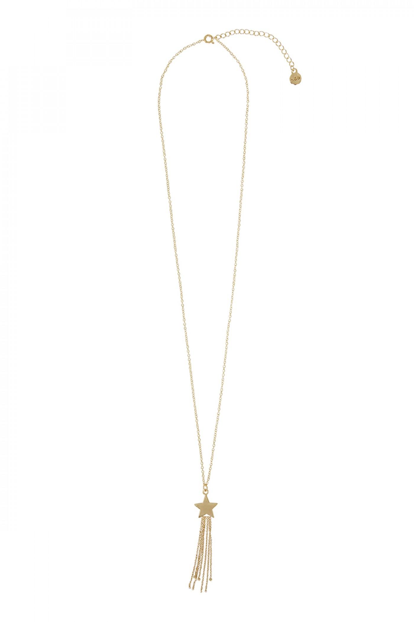 Sass & bide Make A Wish Shooting Stars Necklace in Metallic