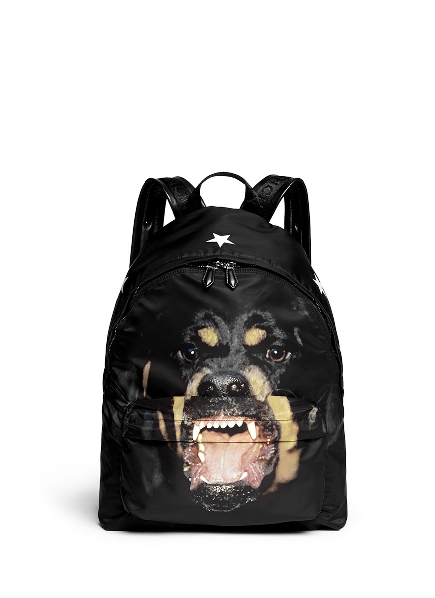Lyst - Givenchy Rottweiler Print Nylon Backpack in Black for Men 51784f6e71567