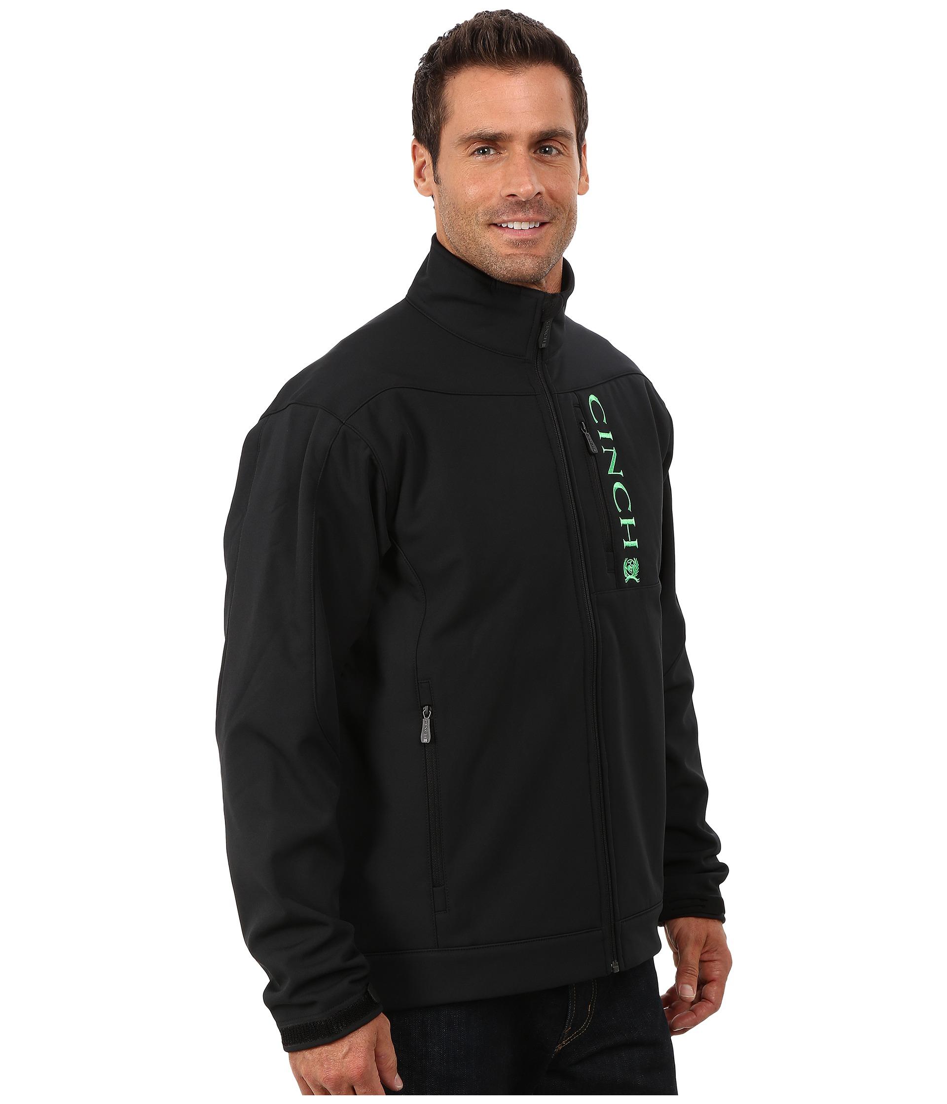 Cinch Bonded Jacket In Black For Men